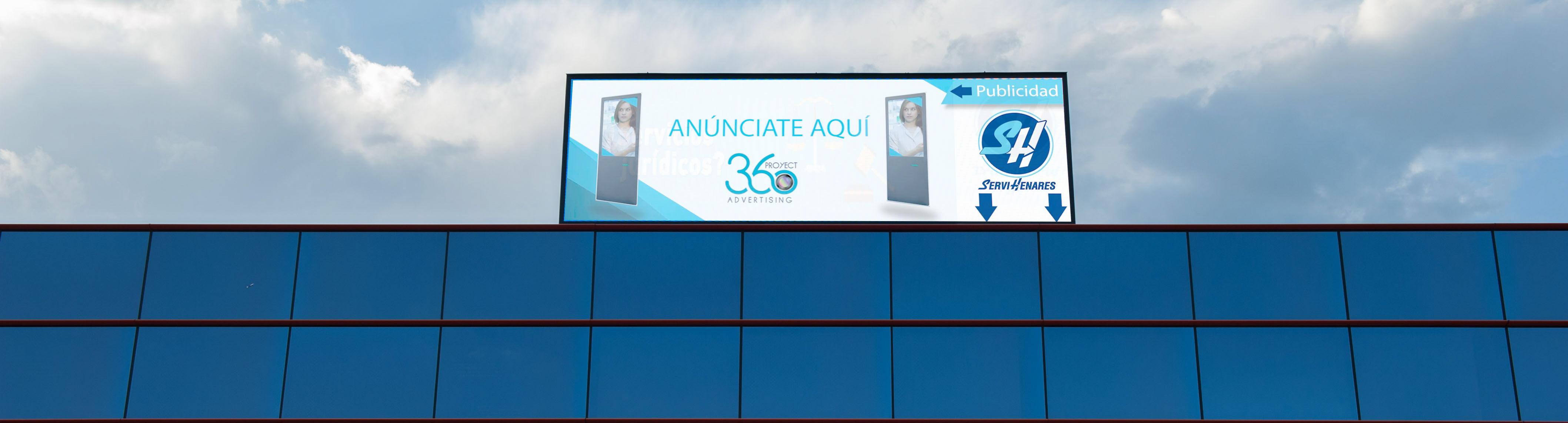 Fachada de las instalaciones de Proyect360 Advertising