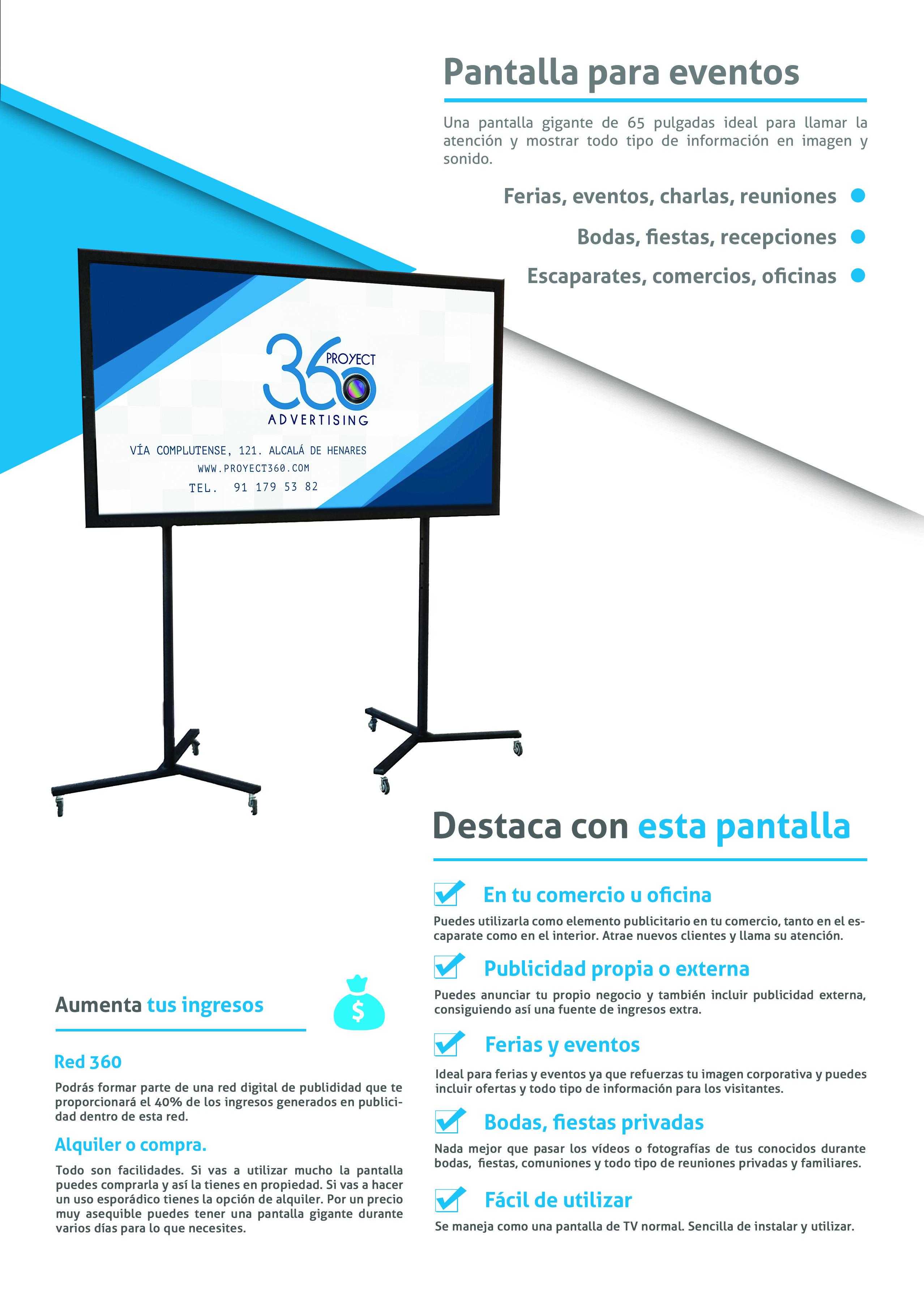 Display Horizontal- Pantalla para Eventos