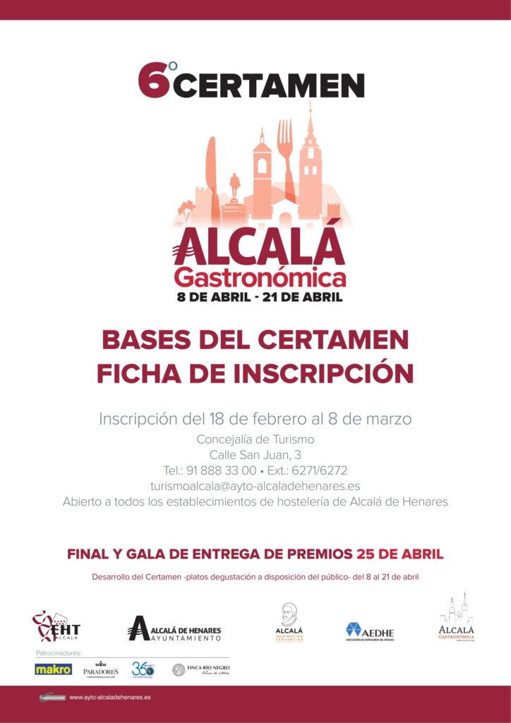 BASES VI Certamen Alcalá Gastronómica-
