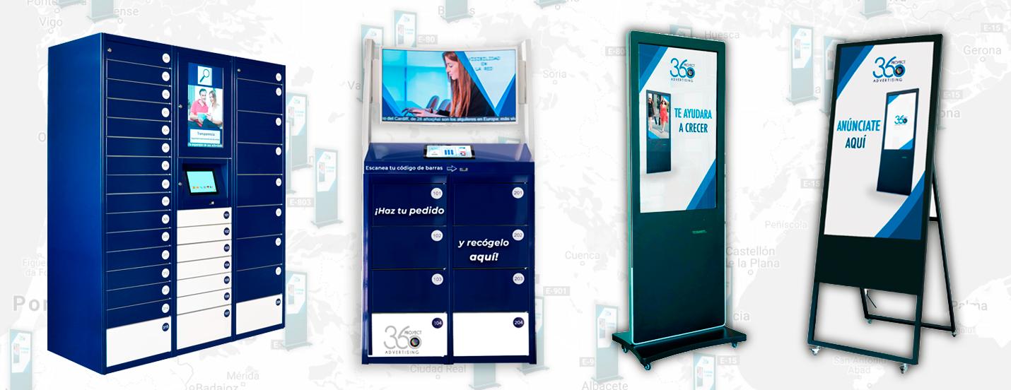 Productos de Proyect360 Advertising - Pantallas digitales para publicidad